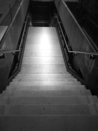 Stairs going down  Black and White Stok Fotoğraf