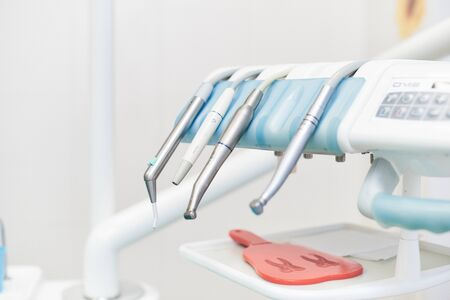 Dental module with tips for dental work 스톡 콘텐츠