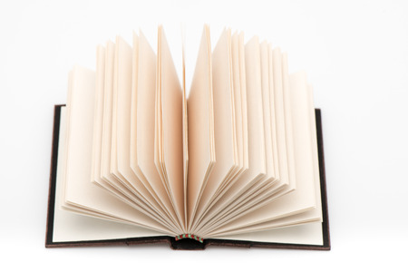 lexicon: Open book pages on white background.