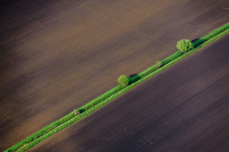 Birds Eye View of the Agricultural Fields and Parcel. Stock fotó