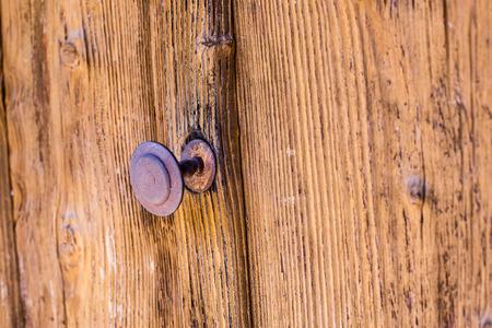 door handle: Rusted Old Door with Handle.