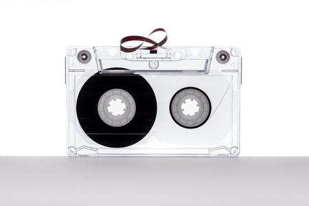 Audio cassette tape isolated on white background. Tape cassette. 版權商用圖片