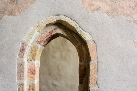 Old stone door with gothic architecture detail. Door Detail for Backgrounds.