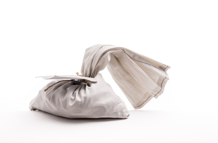 Money Bag Sealed. Bag from the original bank full of money. Stock fotó - 112601658
