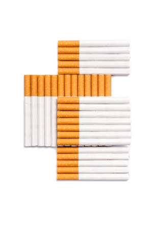 Cigarettes in cross shape form.