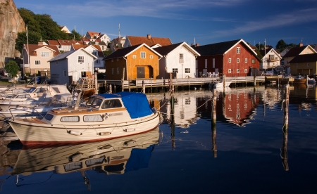 Calm and peaceful village by the swedish west coast  photo