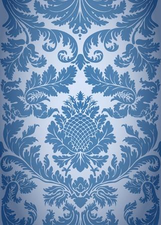 damast: Nahtlose barocken Hintergrundmuster Illustration