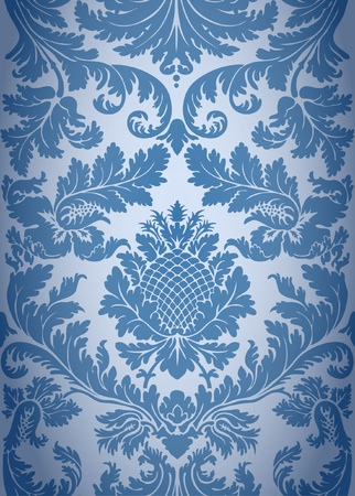baroque background: Seamless baroque background pattern Illustration