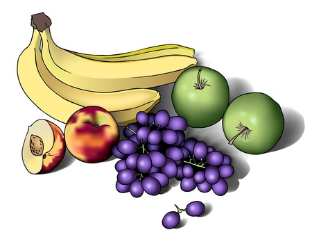 Realistic eps 10 vector illustration of fruits Vector