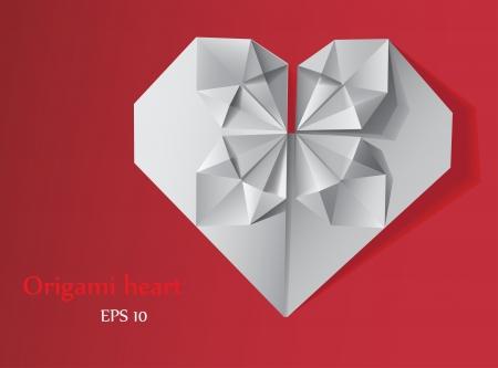 clean heart: Origami heart