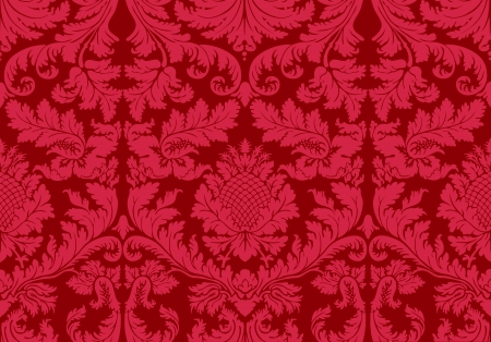 Old wallpaper. Vector. Illustration of a historical seamless background pattern. Vector