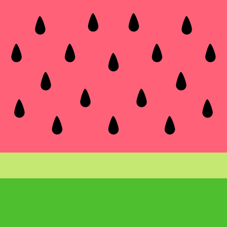 Watermelon vector background. Summer watermelon simple background for banner, card or poster. Illustration