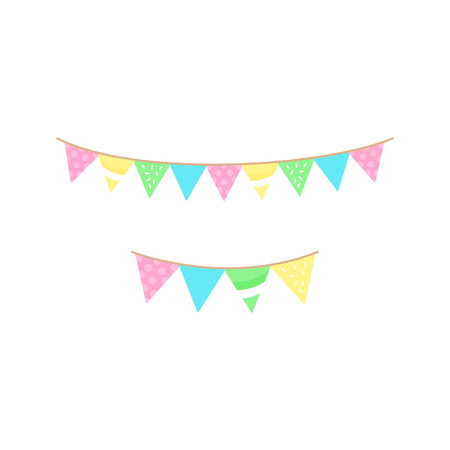 Cute garland, festoon decoration vector graphic illustration icon. Isolated.