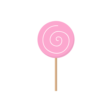 Cute hand drawn candy lollipop, vector graphic illustration icon. Isolated.