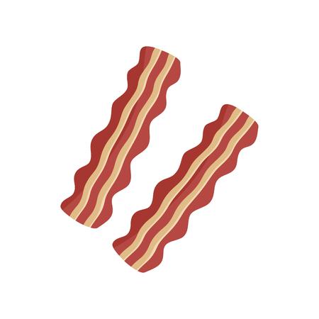 Bacon strips vector illustration, isolated on white background. Vector Illustratie