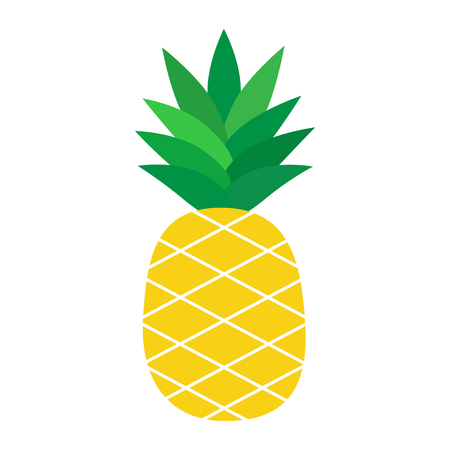 Pineapple vector cartoon illustration, isolated on white background, graphic icon.