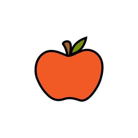 Vector Illustration Keywords: Cute Hand Drawn Autumn Red Fruit. Isolated cartoon graphic icon. Stok Fotoğraf - 133025930