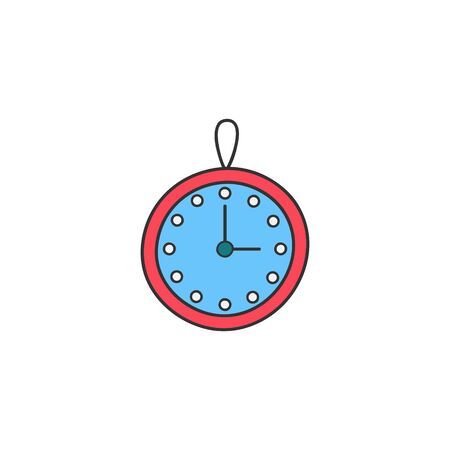 Vector Illustration Keywords: Hand drawn outlined clock. Isolated. Ilustração