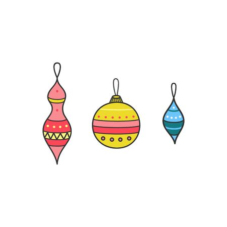 Vector Illustration Keywords: Xmas ornaments. Isolated.