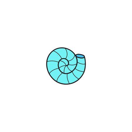 Vector Illustration Keywords: Hand Drawn Outlined Ocean, Marine, Sea Blue Crustacean Shell Animal. Isolated. Vector Illustration