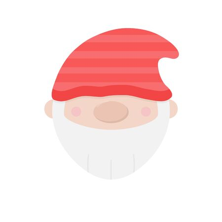Vector Illustration Keywords: Lovely gnome symbol. Isolated.