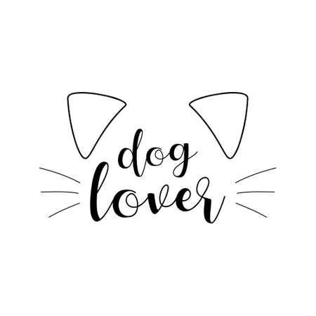 Dog lover cute vector hand drawn illustration