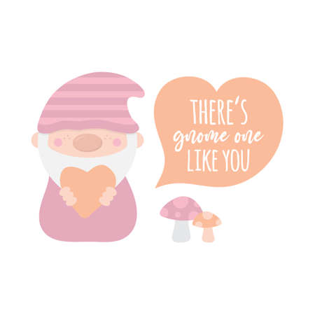 There is gnome one like you vector illustration