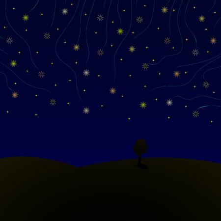Stars in night Illustration