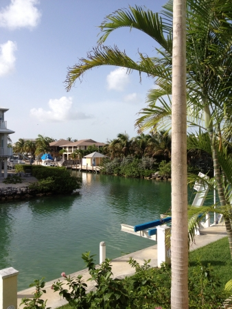 View from the edge of the canal in The Florida Keys.