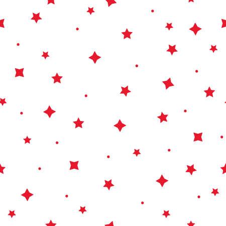 Vector tiny christmas stars repeat pattern backcground Ilustración de vector
