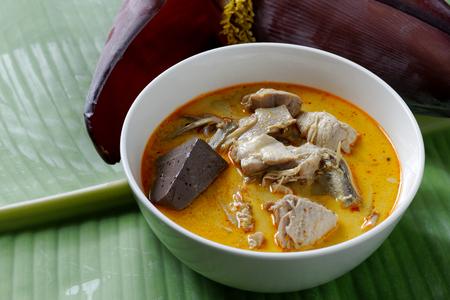 Thai Chicken Coconut Soup with banana blossom (tom yum gai)