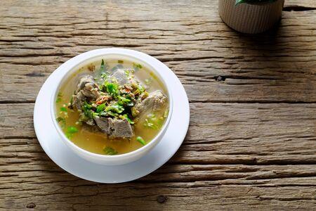Hot and Spicy Pork Neck Bones Soup (Lang Zaap) Stock fotó