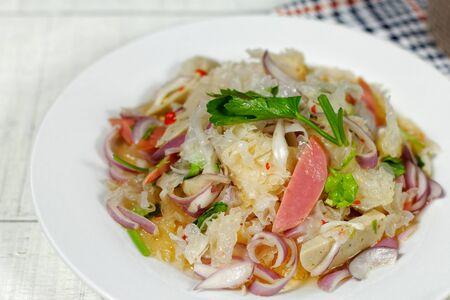 Thai Spicy Snow Fungus Mushroom Salad