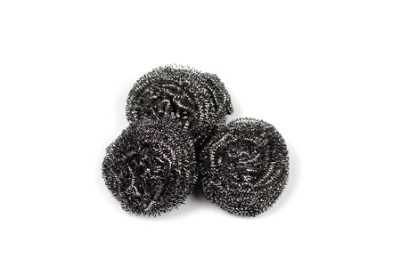 steel wool for washing dish on white background Banco de Imagens - 126250054