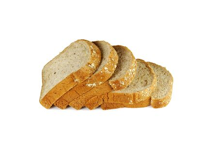 Slice of Whole grain bread isolated on a white background Stockfoto
