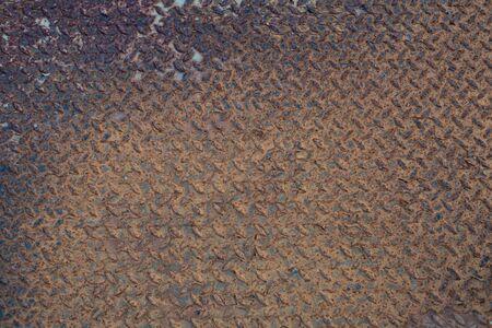 Old and grunge anti-slip metal sheet abstract texture background Standard-Bild