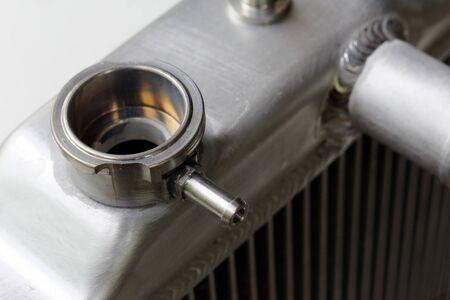 Close up Billet Aluminum Radiator Filler Neck