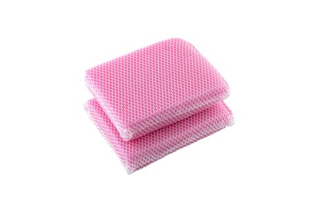 Dishwashing Cloth Fine Mesh Sponge isolated on white background