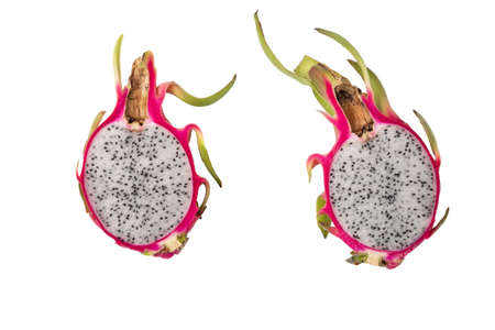 Half Sliced Dragon fruit isolated on white background Banque d'images