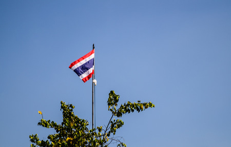 Thailand flag with blue sky