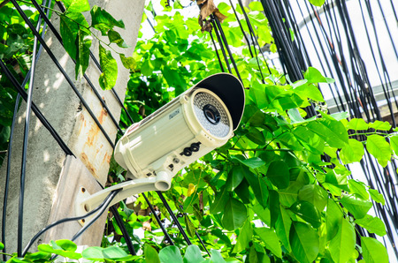under surveillance: Security camera