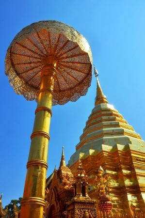 adore: Pagoda of Doisuthep temple in Northen Thailand