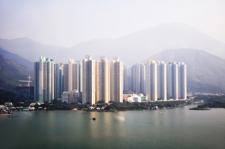 Condominium buildings in HongKong photo