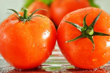 Two fresh tomatoes Stock Photo - 14399737