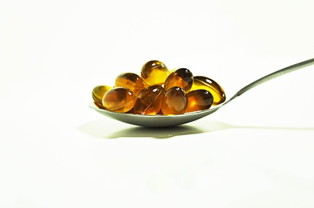 fish oil: Rice bran and germ oil capsules - source of omega 3