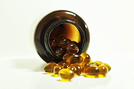 Rice bran and germ oil capsules - source of omega 3 photo