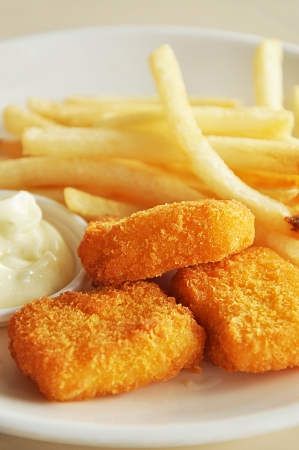 French fries and chicken nuggets Stock Photo - 14734197