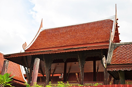 Traditional Thai roofs and gables