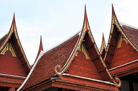 Traditional Thai roofs and gables  photo