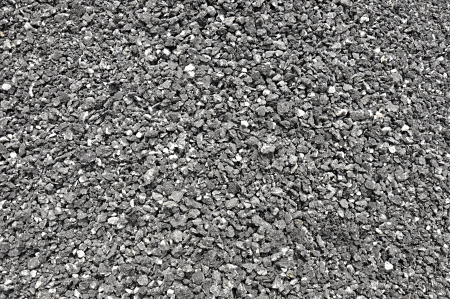 rocky road: Mixed small gravels and asphalt